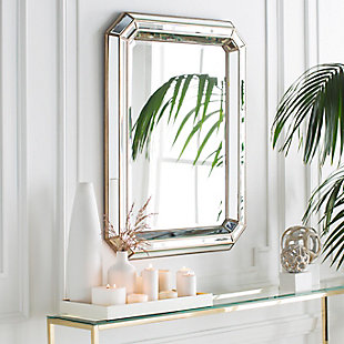 """Home Accents Geometric 40"""" x 30"""" x 2.25"""" Mirror, , large"""