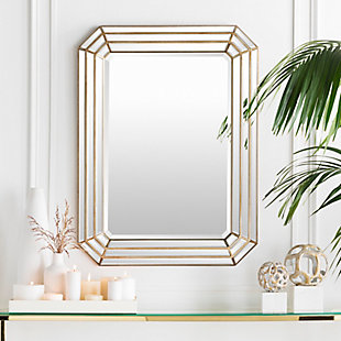 "Home Accents Geometric 40"" x 30"" x 2.25"" Mirror, , rollover"