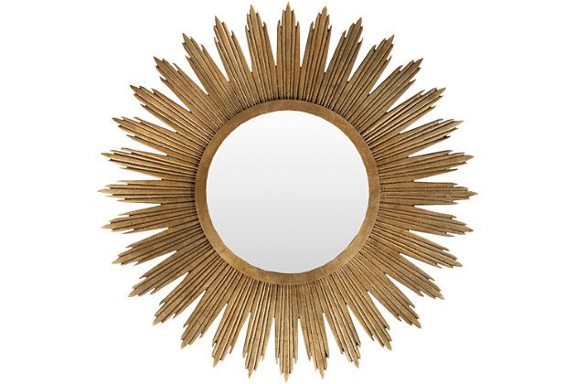 """Home Accents Starburst 47"""" x 47"""" x 1.5"""" Mirror, , large"""