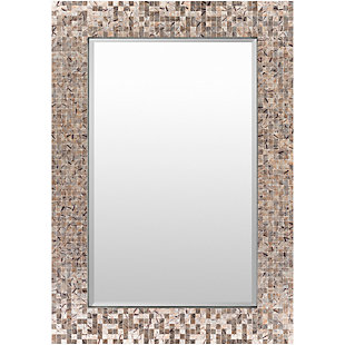 "Whitaker Gray Mother of Pearl 40"" x 28"" x 1"" Mirror, , large"