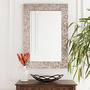 "Whitaker Gray Mother of Pearl 40"" x 28"" x 1"" Mirror, , rollover"