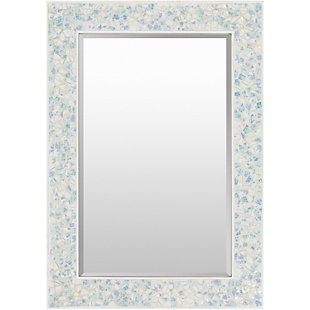 "Whitaker Blue Mother of Pearl 40"" x 28"" x 1"" Mirror, , large"