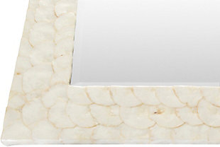 "Whitaker White Mother of Pearl 40"" x 28"" x 1"" Mirror, , large"