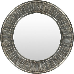 """Home Accents Gray Weathered Wood 40"""" X 40"""" Mirror, , large"""