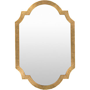 "Home Accents Goldtone 30"" x 45""  Mirror, , large"