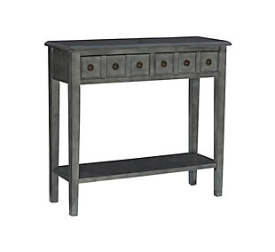 """Powell Emily 38"""" Console, Gray, large"""