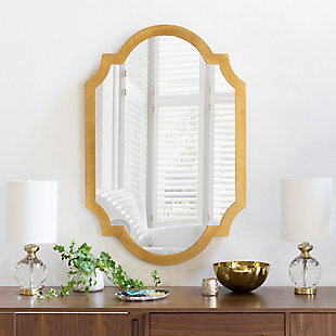 "Home Accents Goldtone 30"" x 45""  Mirror, , rollover"