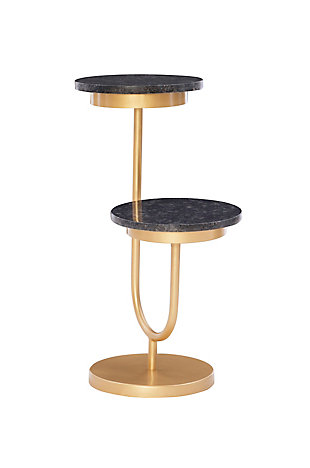 Powell Myrtle Dual Drink Table, , large