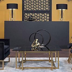 "Sagebrook Home 7"" Gold Knot Decorative Sculpture, , rollover"