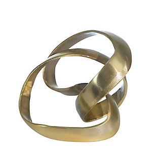 "Sagebrook Home 7"" Gold Knot Decorative Sculpture, , large"