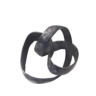 """Sagebrook Home 7"""" Black Knot Sculpture, , large"""