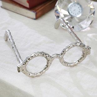 Sagebrook Home Silver Glasses Sculpture, , rollover