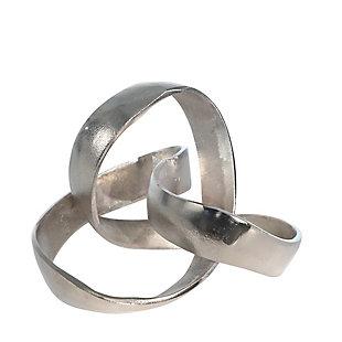 "Sagebrook Home Silver 7"" Knot Sculpture, , large"