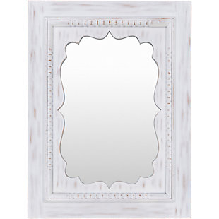 "Home Accents Hand Painted White 40"" x 30"" Mirror, , large"
