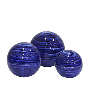 Sagebrook Home Blue Orbs (Set of 3), , large