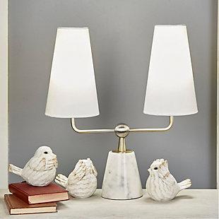 Sagebrook Home Cream Decorative Birds (Set of 3), , rollover