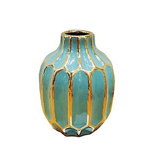 Sagebrook Home and Gold Ceramic Vase, , large