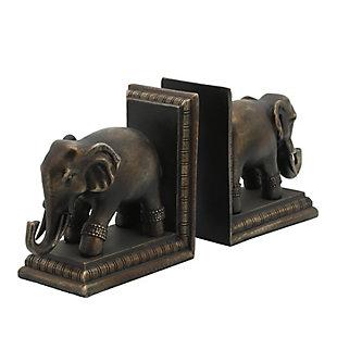 Sagebrook Home Elephant Bookends (Set of 2), , large