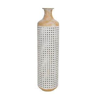 """Sagebrook Home 26"""" White 2-Tone Vase, , large"""