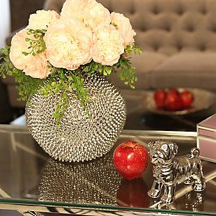 """Sagebrook Home Spiked Ceramic Vase 10"""", , rollover"""
