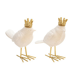 Sagebrook Home Birds with Crown (Set of 2), , large