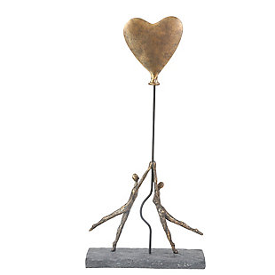 Sagebrook Home Polyresin Couple With Balloon Heart, , large