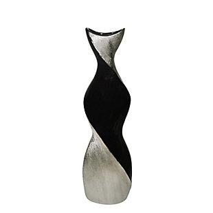 Sagebrook Home Black and Silver Vase, , large