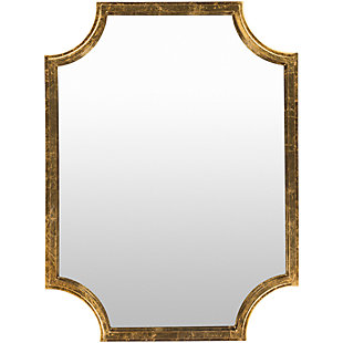 "Joslyn Gilded Framed Gold 29.75"" x 40"" Mirror, , large"