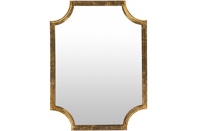 "Joslyn Gilded Framed Gold 29.75"" x 40"" Mirror, , large"