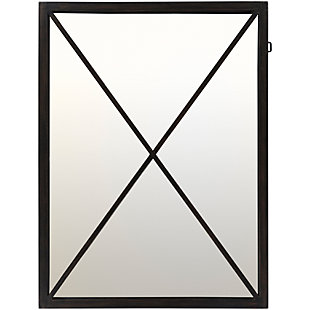 "Home Accents Black Metal 30"" x 40"" Mirror, , large"