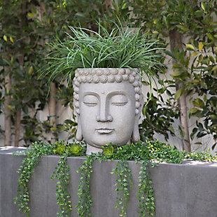 Sagebrook Home Buddha Head Planter, , rollover