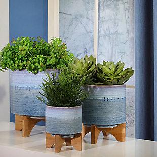 Sagebrook Home Fade Ceramic Planter On Stand, , large