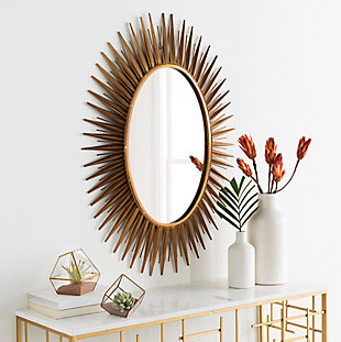 "Halsey Starburst 30"" x 42"" Wall Mirror, , large"