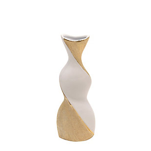 """Sagebrook Home and Gold 16"""" Twisted Vase, , rollover"""