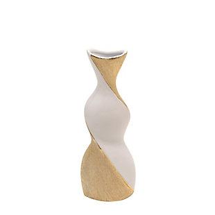 "Sagebrook Home and Gold 16"" Twisted Vase, , large"