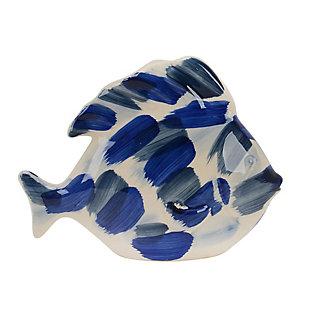 "Sagebrook Home 8"" Blue Brushed Decorative Fish, , large"