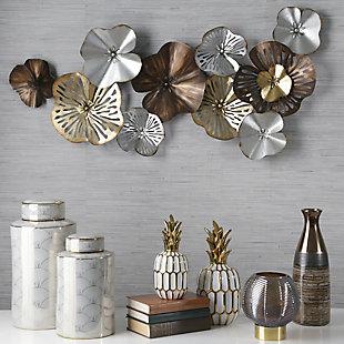 Sagebrook Home Metal Flowers Wall Sculpture, , rollover