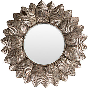 "Home Accents Flower Shape Framed 36"" x 36"" Mirror, , large"