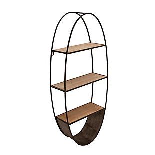 Sagebrook Home Oval Wood/Metal Wall Shelf, , rollover