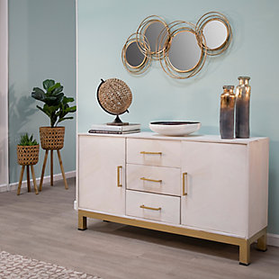 Sagebrook Home Looped Gold 4 Circle Mirrors, , rollover