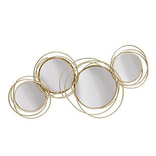 Sagebrook Home Looped Gold 4 Circle Mirrors, , large