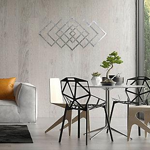 "Sagebrook Home 40"" Diamond Metal Wall Decor, , rollover"