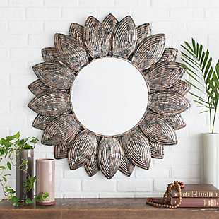 "Home Accents Flower Shape Framed 36"" x 36"" Mirror, , rollover"