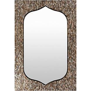 "Home Accents Bronze Mother of Pearl 43.3"" x 29.5"" Mirror, , large"
