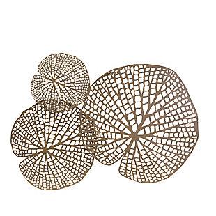 Sagebrook Home Gold Metal Lotus Leaf, , rollover