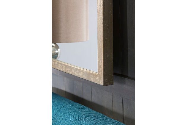 """Home Accents Weather Wood 23"""" x 46"""" Mirror, , large"""