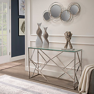 Sagebrook Home Looped Silver 4 Circle Mirrors, , rollover