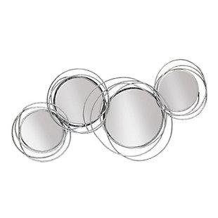 Sagebrook Home Looped Silver 4 Circle Mirrors, , large