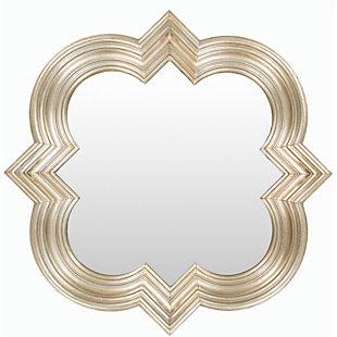 """Salima Quatrefoil Design 34"""" x 34"""" Mirror, , large"""