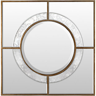 "Home Accents Antiqued Glass 23.5"" x 23.5"" Mirror, , large"
